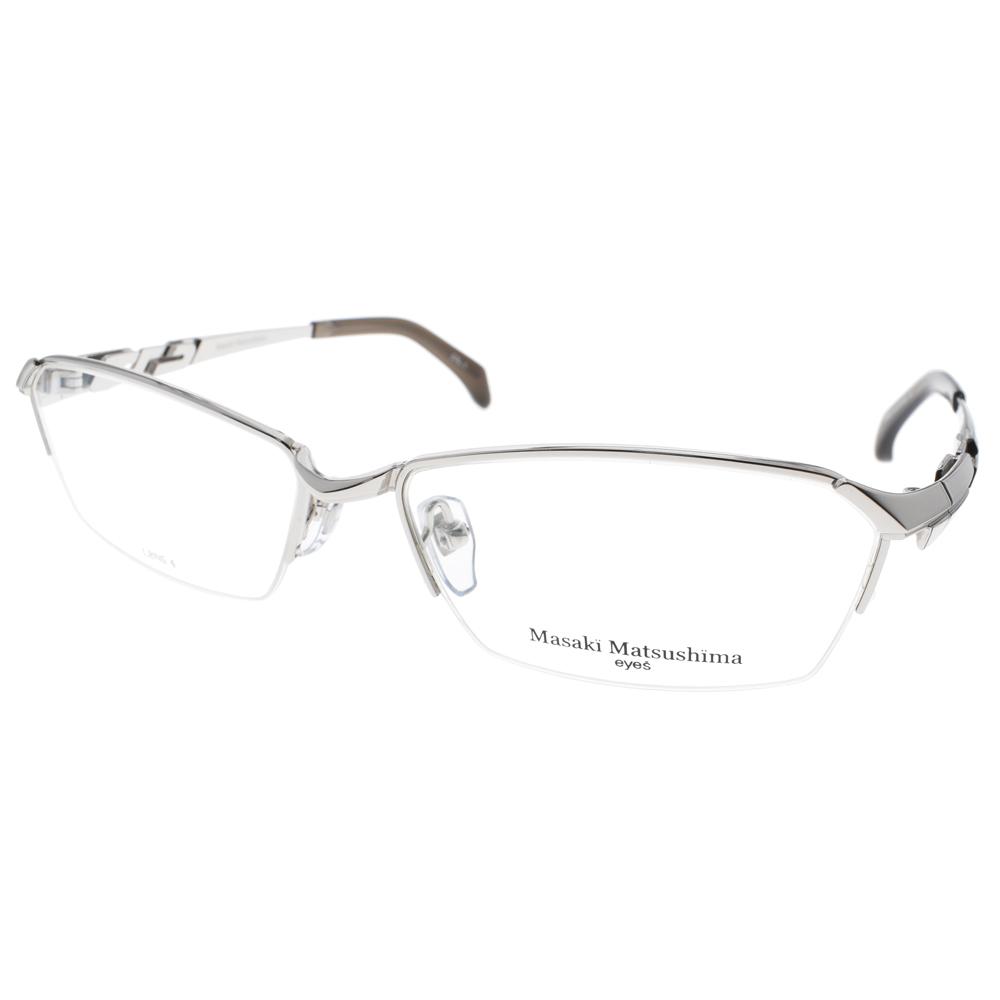 Masaki Matsushima眼镜  β钛半框款 /银 #MF1206 C01