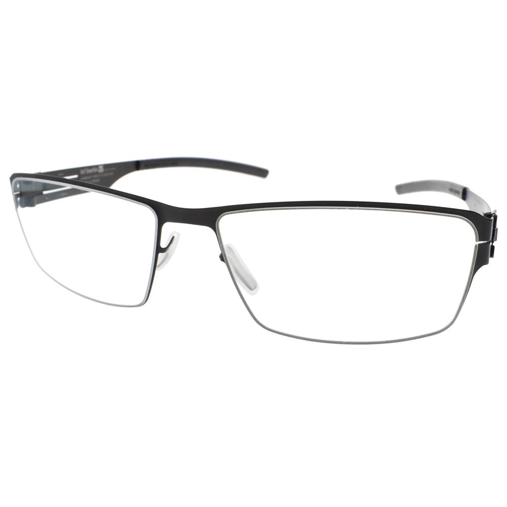 Ic! Berlin眼镜 德国薄钢工艺简约方框(黑) #JURGEN H. BLACK