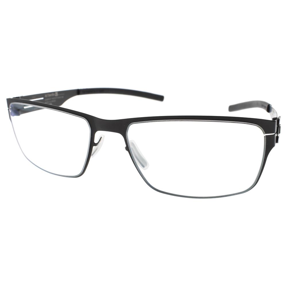 Ic! Berlin眼镜 德国薄钢经典方框(黑) #PAUL R. BLACK