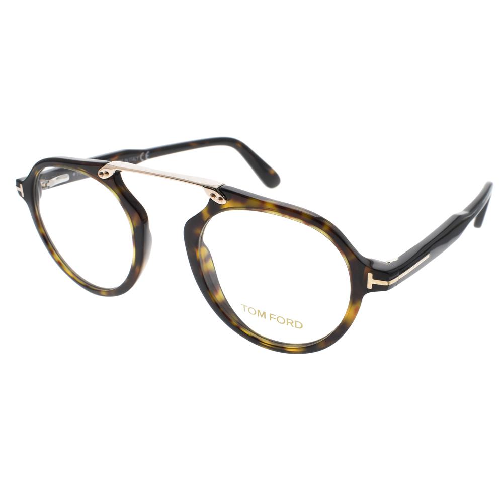 TOM FORD光学眼镜 复古元素飞行款(琥珀-金) #TOM5494 052