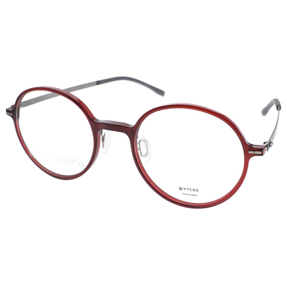 VYCOZ眼镜 轻薄时尚简约圆框(透红-银) #GUSS RED