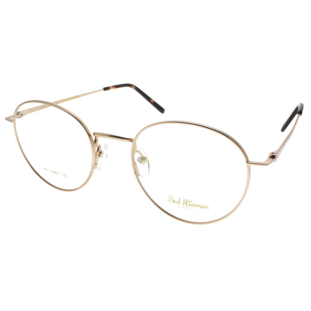 PAUL HUEMAN光学眼镜 人气学院风细圆框(雾金) #PHF188D 01M