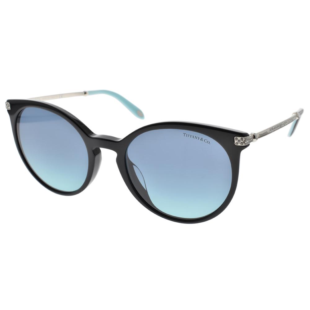 Tiffany&CO.太阳眼镜 简约大猫眼款/黑-银 #TF4142BF 80019S