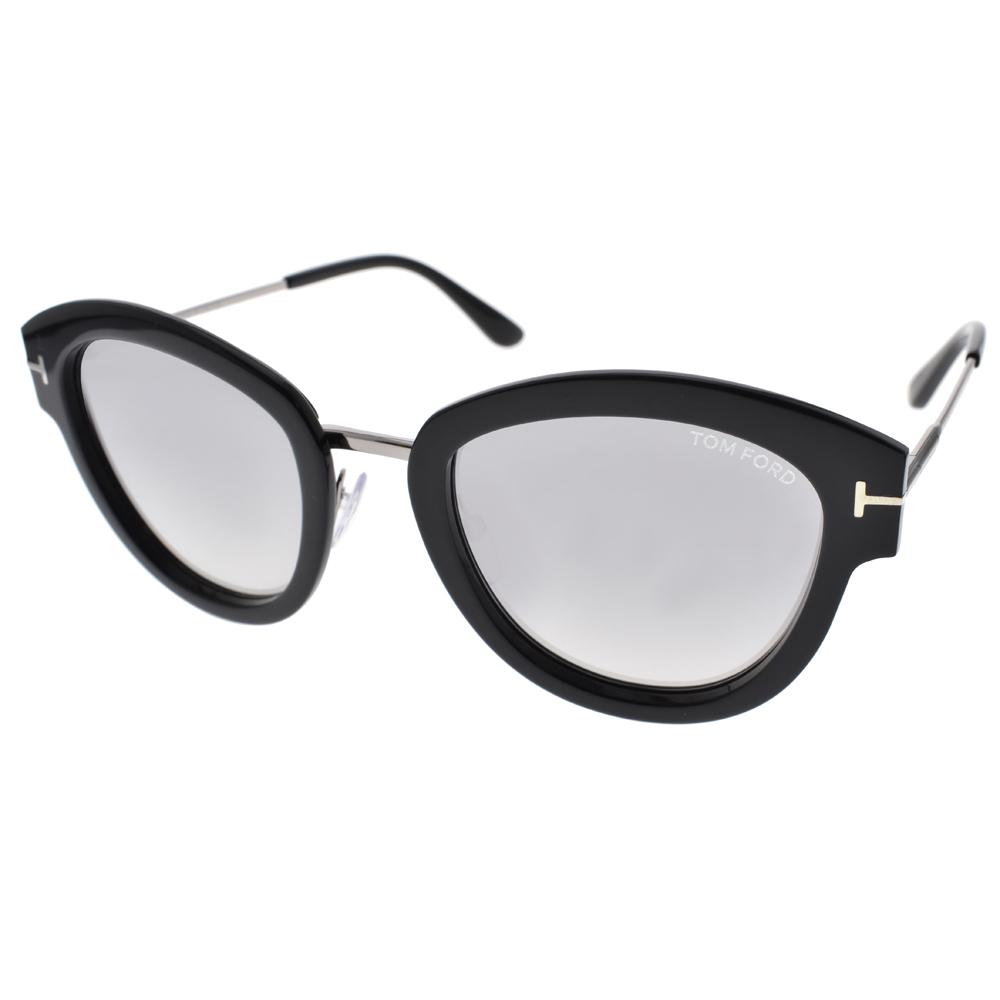 TOM FORD太阳眼镜 欧美时尚造型(黑-白水银) #TOM0574 14C