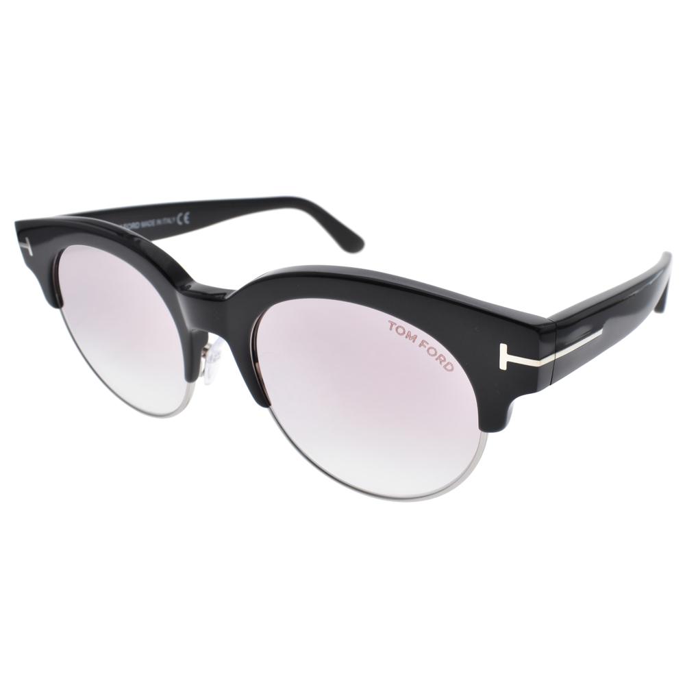 TOM FORD太阳眼镜 欧美时尚眉框(黑-银) #TOM0598 01Z
