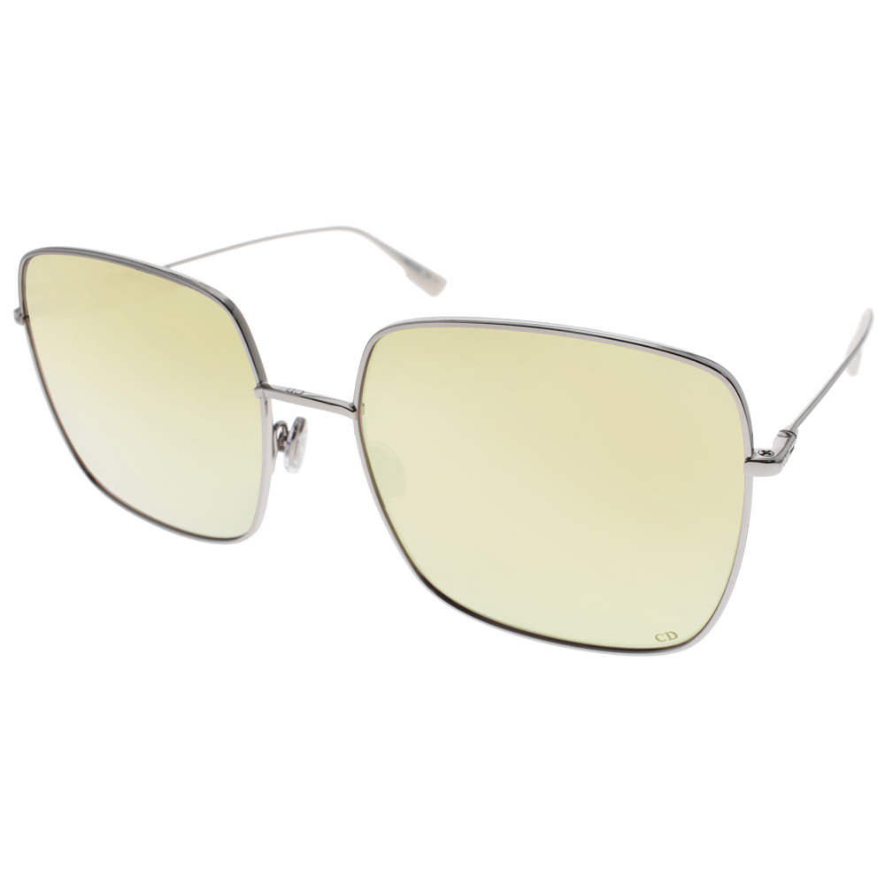 DIOR太阳眼镜 欧美时尚方框/银-黄水银 #STELLAIRE1 010SQ