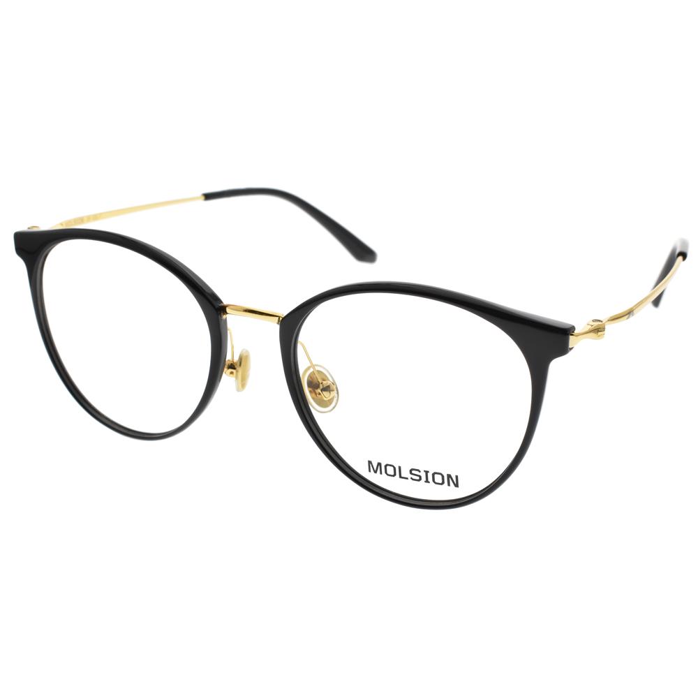 MOLSION 眼镜 简约流行经典(黑-金) #MJ6091 B10