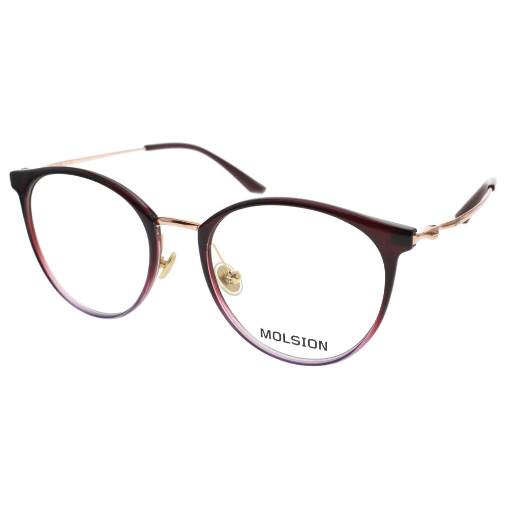 MOLSION 眼镜 简约流行经典(渐层紫) #MJ6091 B30