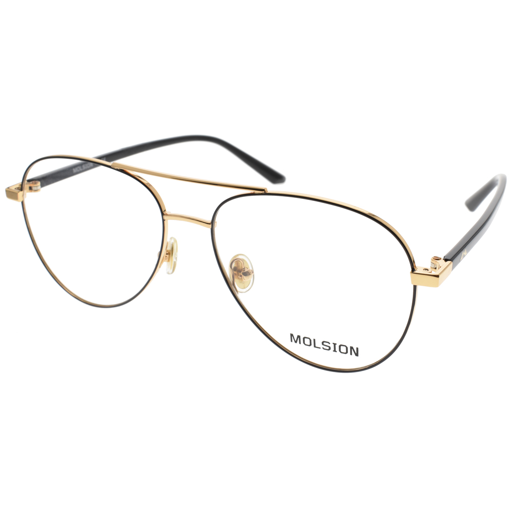 MOLSION 眼镜 简约流行经典(黑-金) #MJ7016 B60