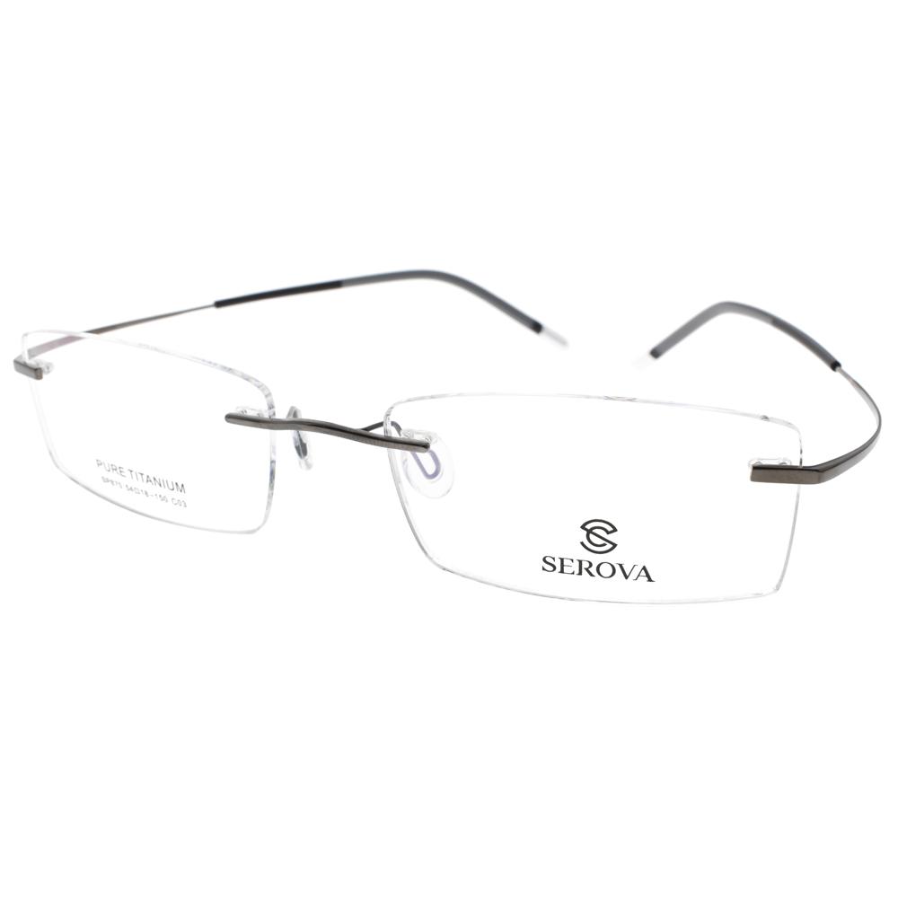 SEROVA 眼镜 简约无框款(银) #SP870 C03