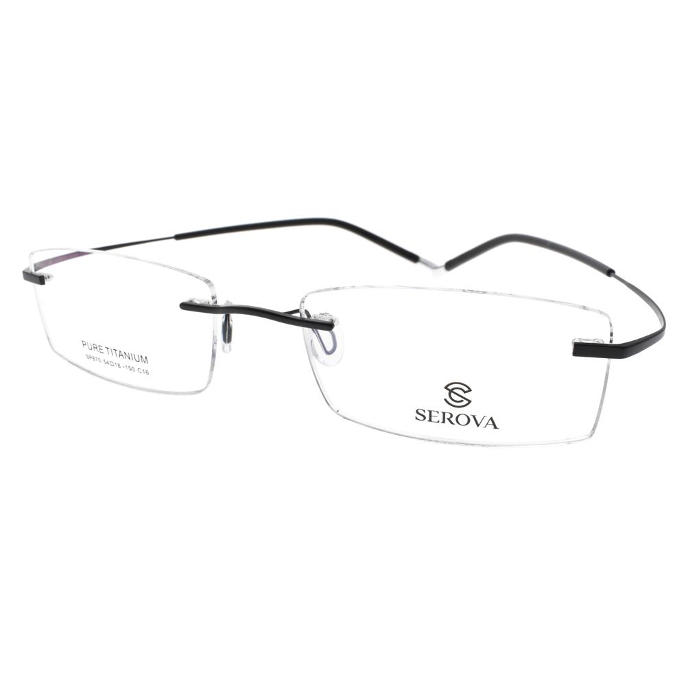 SEROVA 眼镜 简约无框款(黑) #SP870 C16
