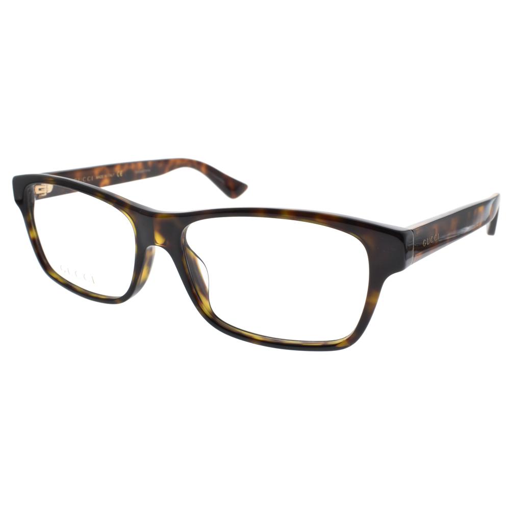 GUCCI 光学眼镜 复古粗框系列(琥珀) #GG0006OA 011