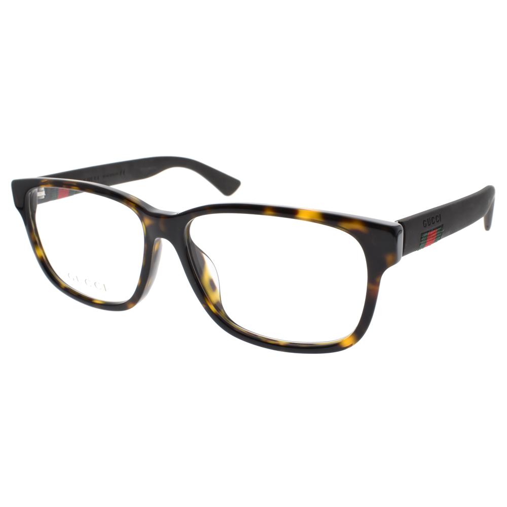 GUCCI 光学眼镜 简约复古大框(琥珀) #GG0011OA 002
