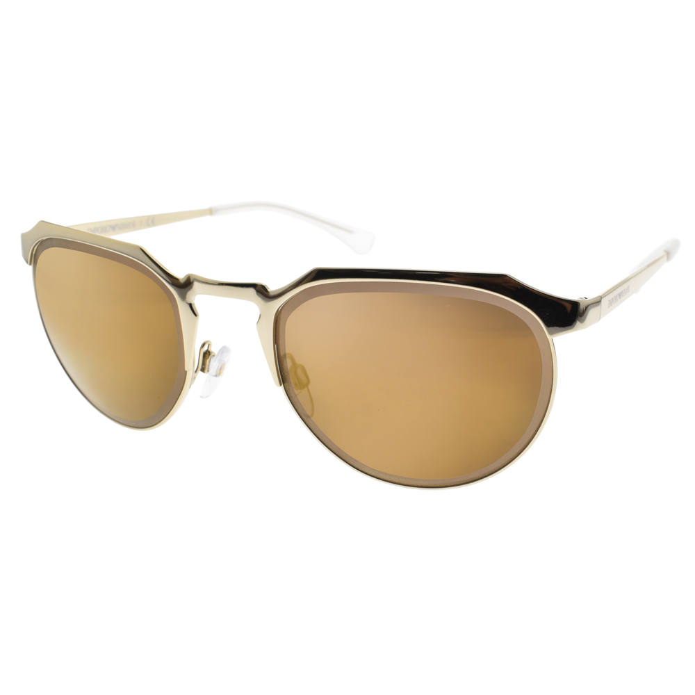 EMPORIO ARMANI太陽眼鏡 簡約時尚/金-黃水銀#EA2067 30137D
