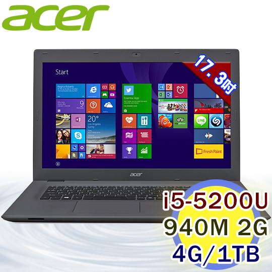 ACER E5-772G-54PL 17.3吋 i5-5200U 2G獨顯FHD筆電
