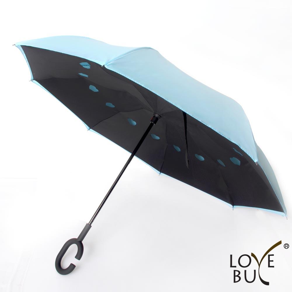 【love buy】c型把手双层站立防风反向伞 晴雨伞 阳伞图片