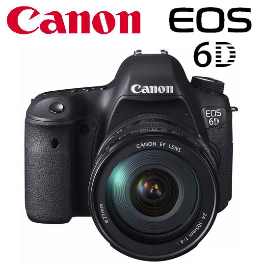 【迎春好礼~送32G副电专用相机包】Canon EOS 6D 24-105mm KIT组 公司货~