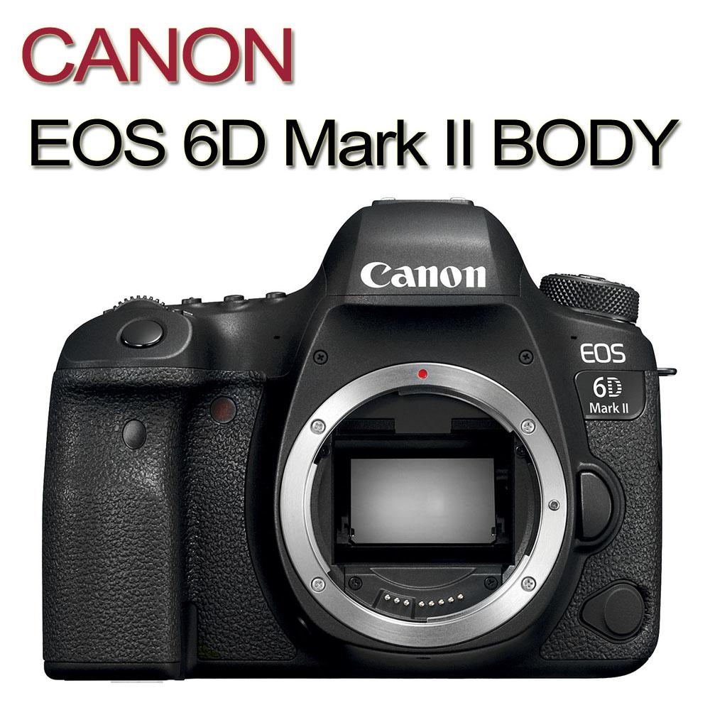 CANON EOS 6D Mark II 6D2 BODY单机身(中文平输)赠64G记忆卡+专用电池+单眼相机包+吹球清洁组