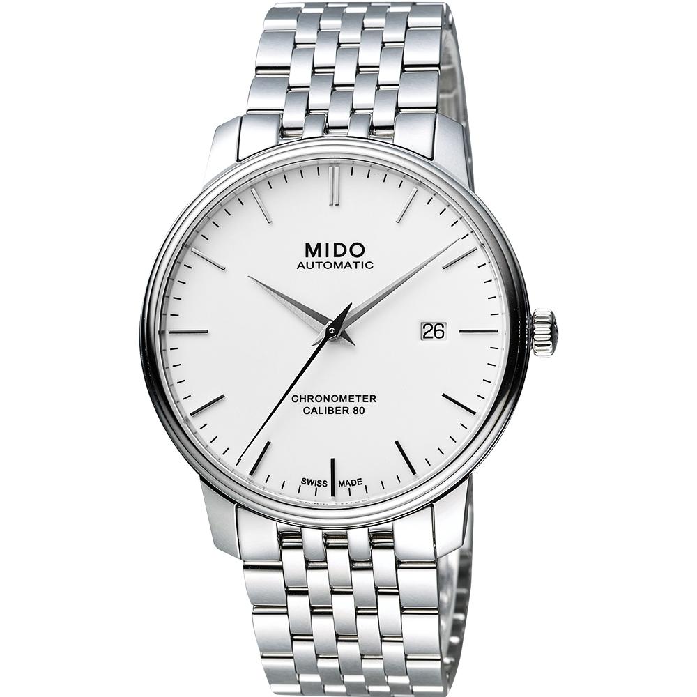MIDO美度 永恒系列80小时天文台认证矽游丝机械腕表 M0274081101100
