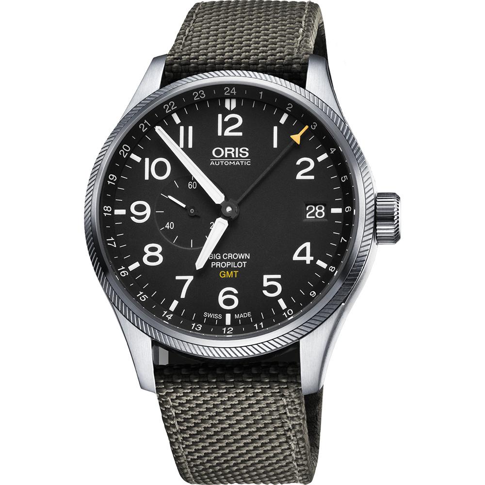 Oris Big Crown ProPilot GMT小秒針機械錶~黑x軍綠 45mm 0174877104164~0752217FC