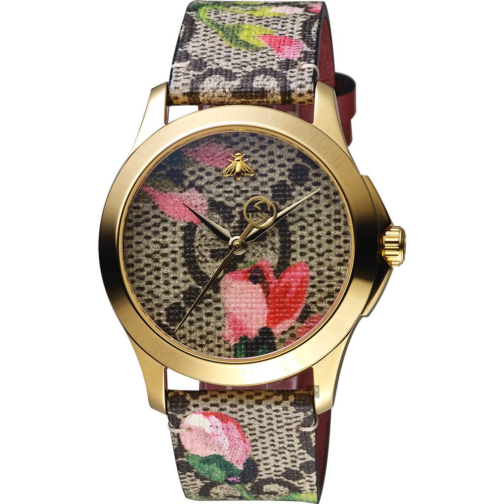 Gucci 古驰 G-Timeless 花朵绽放优雅手表-38mm YA1264038