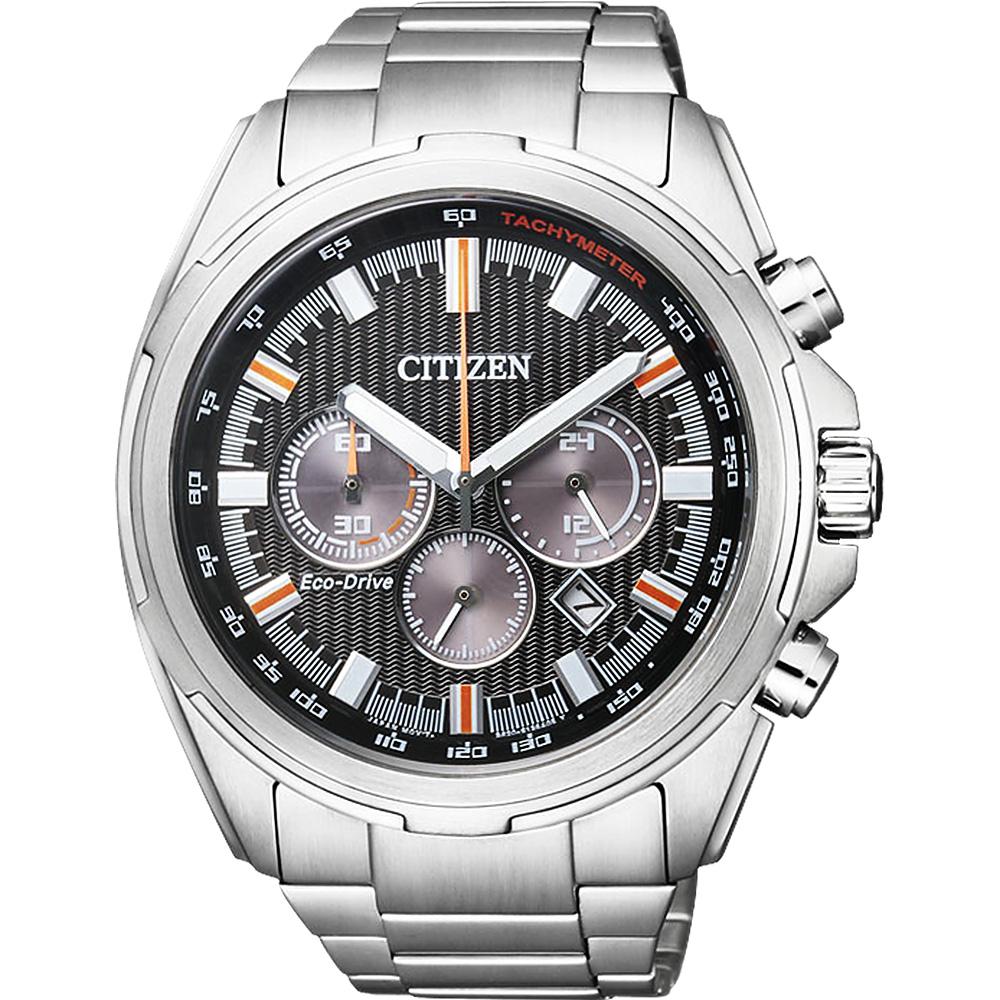 CITIZEN 星辰 Eco-Drive光动能计时腕表-黑/45mm CA4220-55E