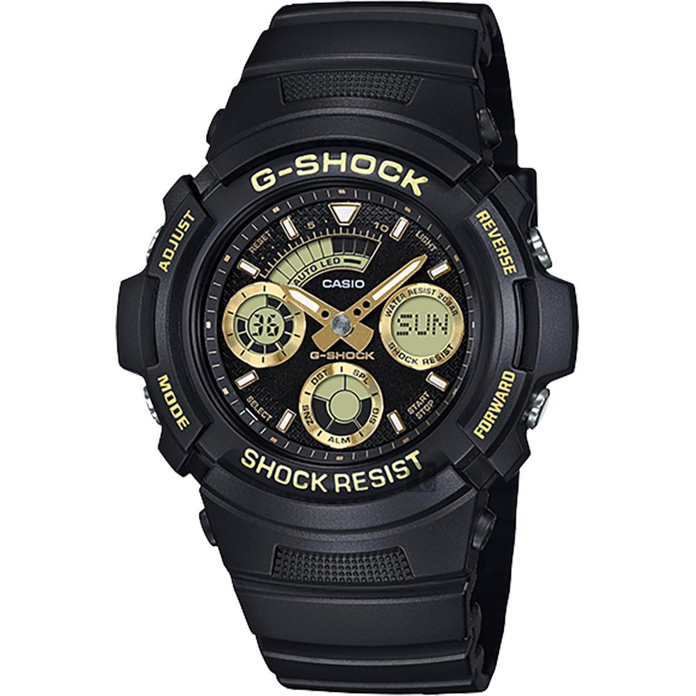 CASIO 卡西欧 G-SHOCK 赛车运动手表-金x黑 AW-591GBX-1A9DR
