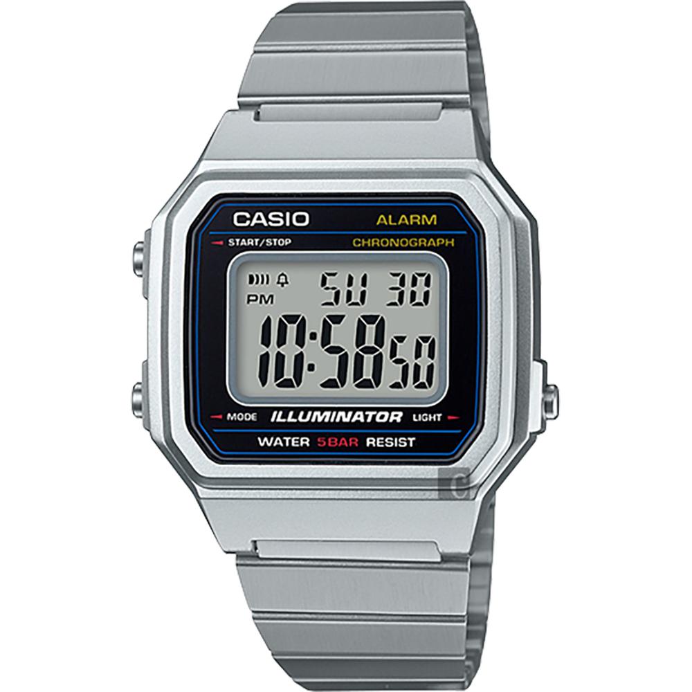 CASIO 卡西欧 复古文青大数字电子表-银 B650WD-1ADF