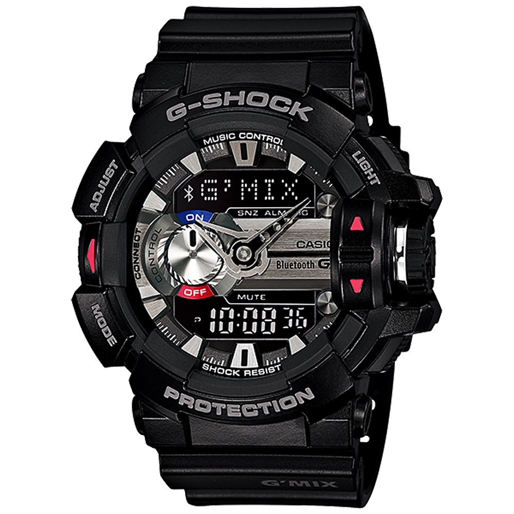 CASIO 卡西欧 G-SHOCK 蓝芽音乐控制表-黑 GBA-400-1ADR