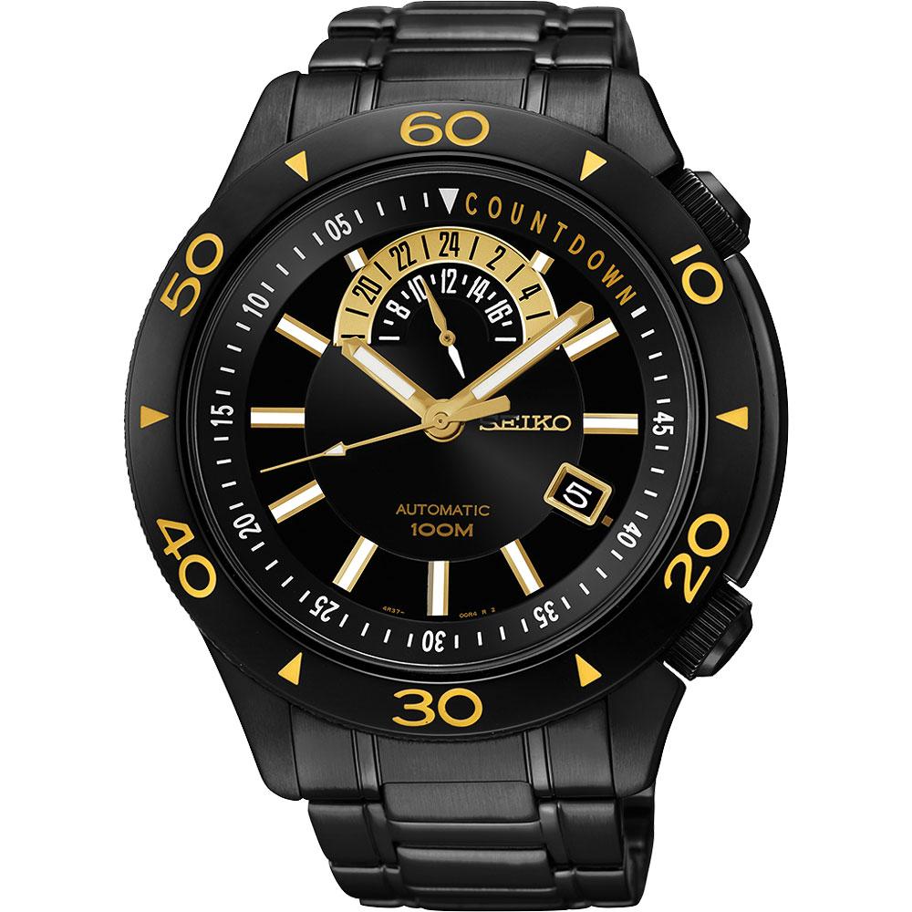 SEIKO 精工 绝地争霸时尚机械手表-IP黑/45mm 4R37-00V0SD(SSA187J1)