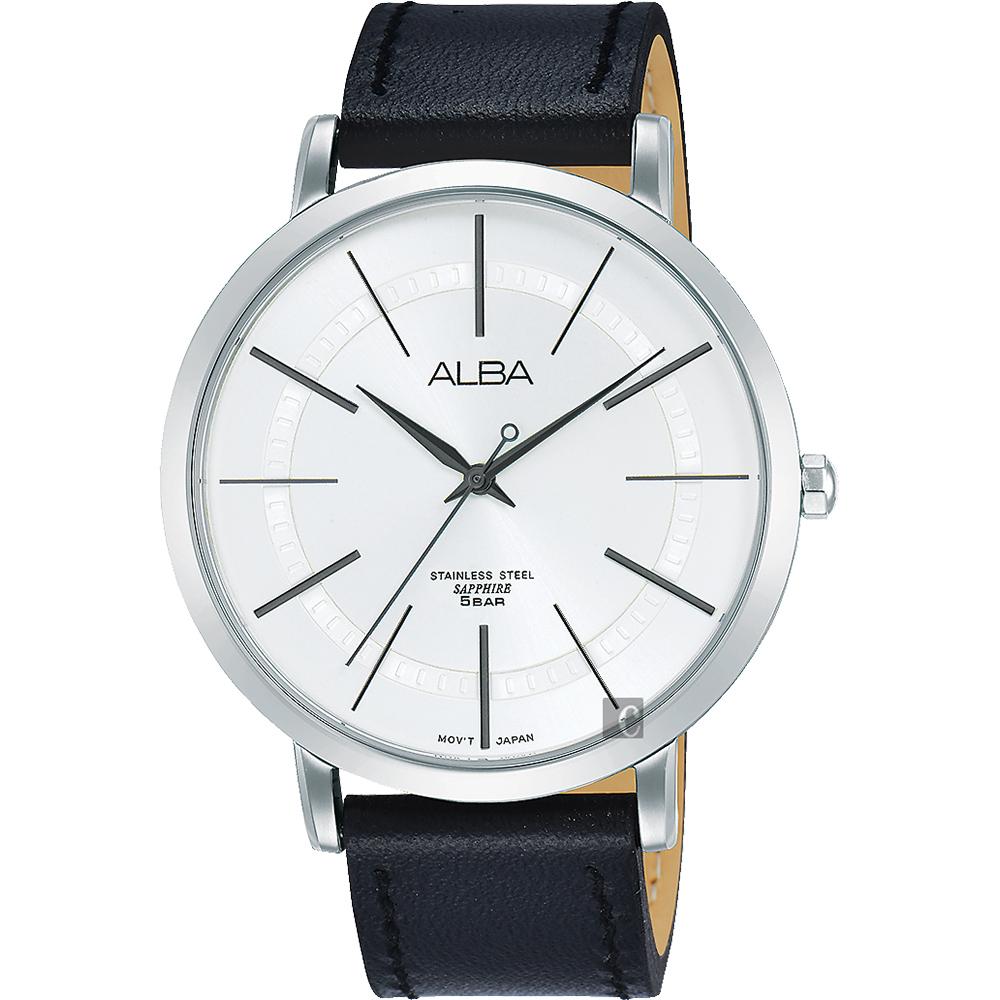 ALBA 雅柏 东京情人时尚手表-银x黑/44mm VJ21-X118Z(AH8479X1)