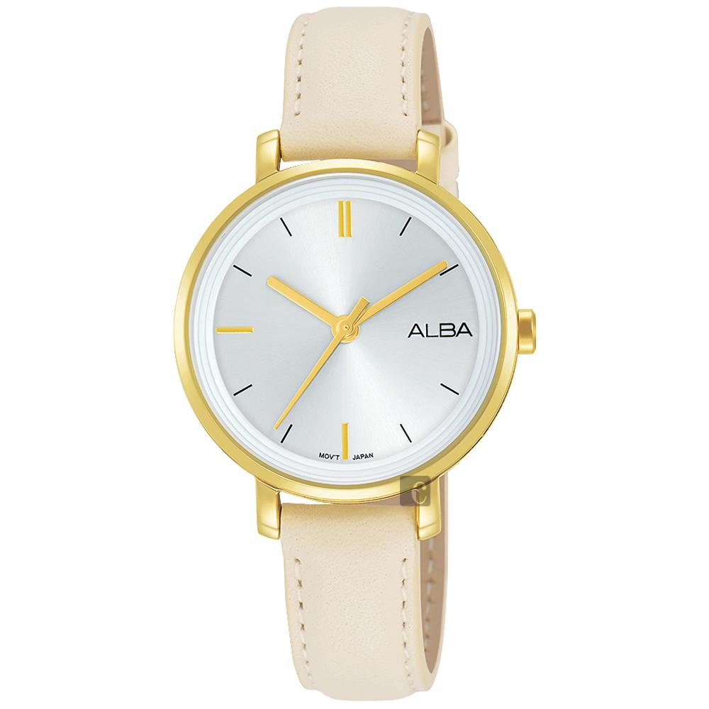 ALBA 雅柏 Fashion lady 简单女孩流行手表-32mm VJ21-X125W(AH8488X1)