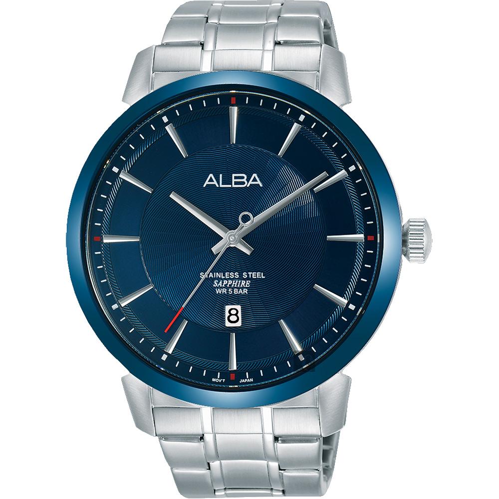 ALBA 雅柏 爵士时尚手表-蓝x银/44mm VJ42-X237B(AS9E91X1)