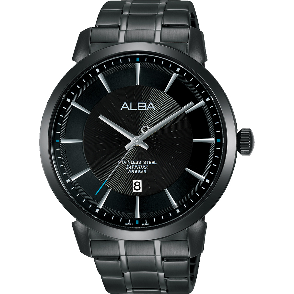 ALBA 雅柏 爵士时尚手表-黑/44mm VJ42-X237SD(AS9E87X1)