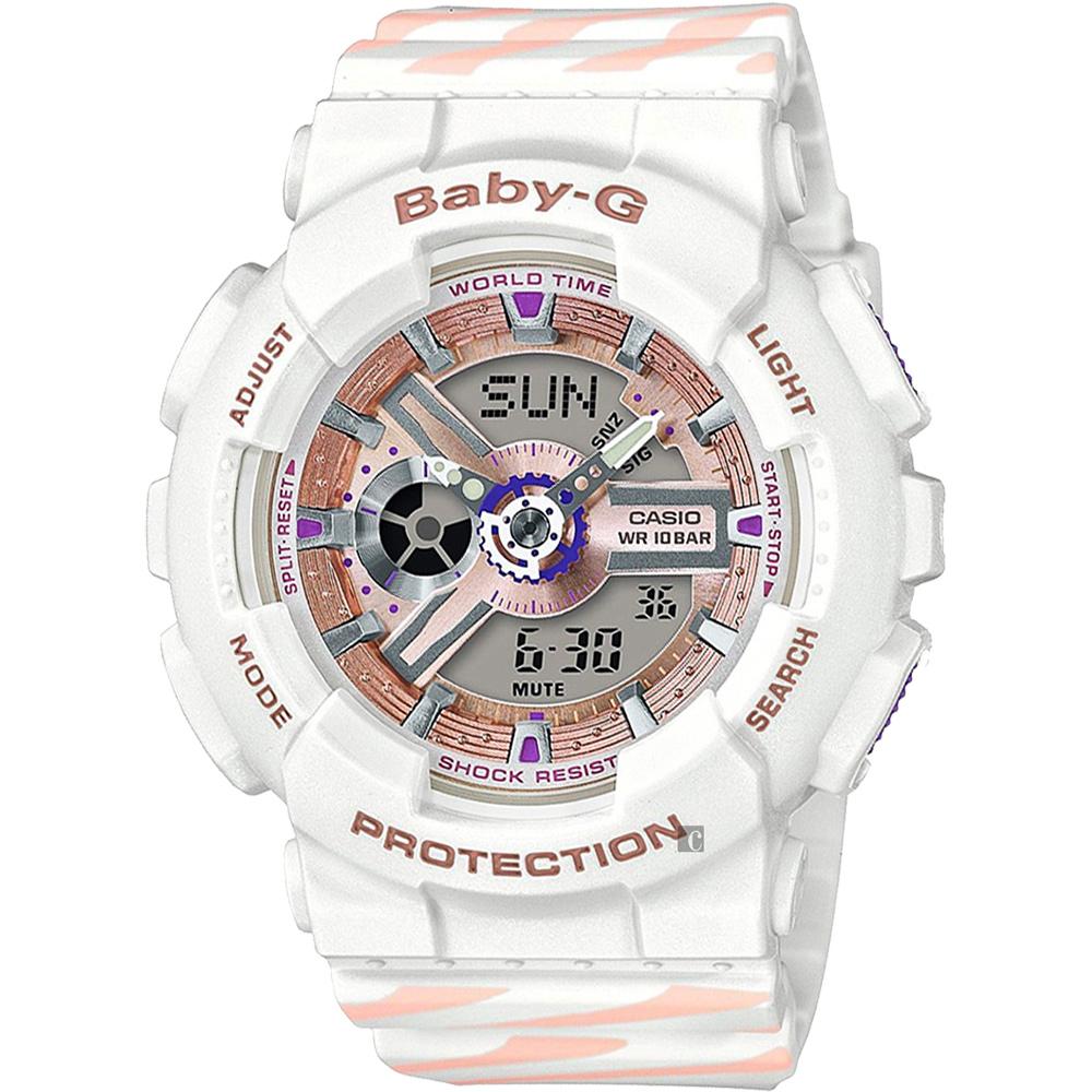 CASIO 卡西欧 Baby-G Chance 米兰设计手表-白 BA-110CH-7A