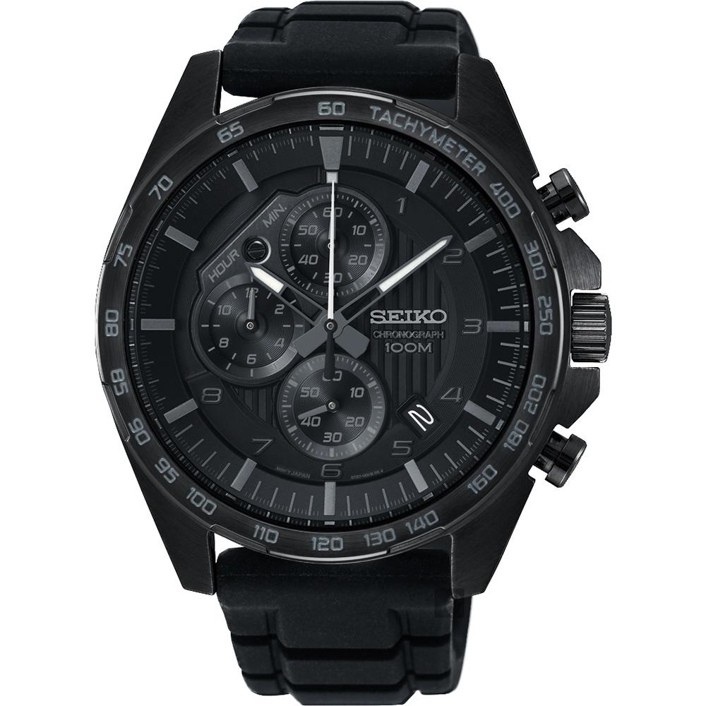 SEIKO 精工 CS 重装计时手表-黑/44mm 8T67-00H0SD(SSB327P1)