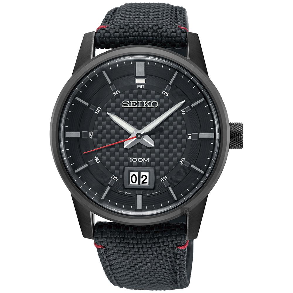 SEIKO 精工 CS 城市系列大日期视窗手表-黑/40mm 6N76-00H0SD(SUR271P1)