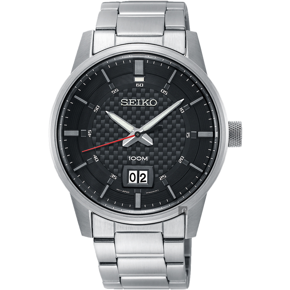 SEIKO 精工 CS 城市系列大日期视窗手表-黑x银/40mm 6N76-00H0D(SUR269P1)