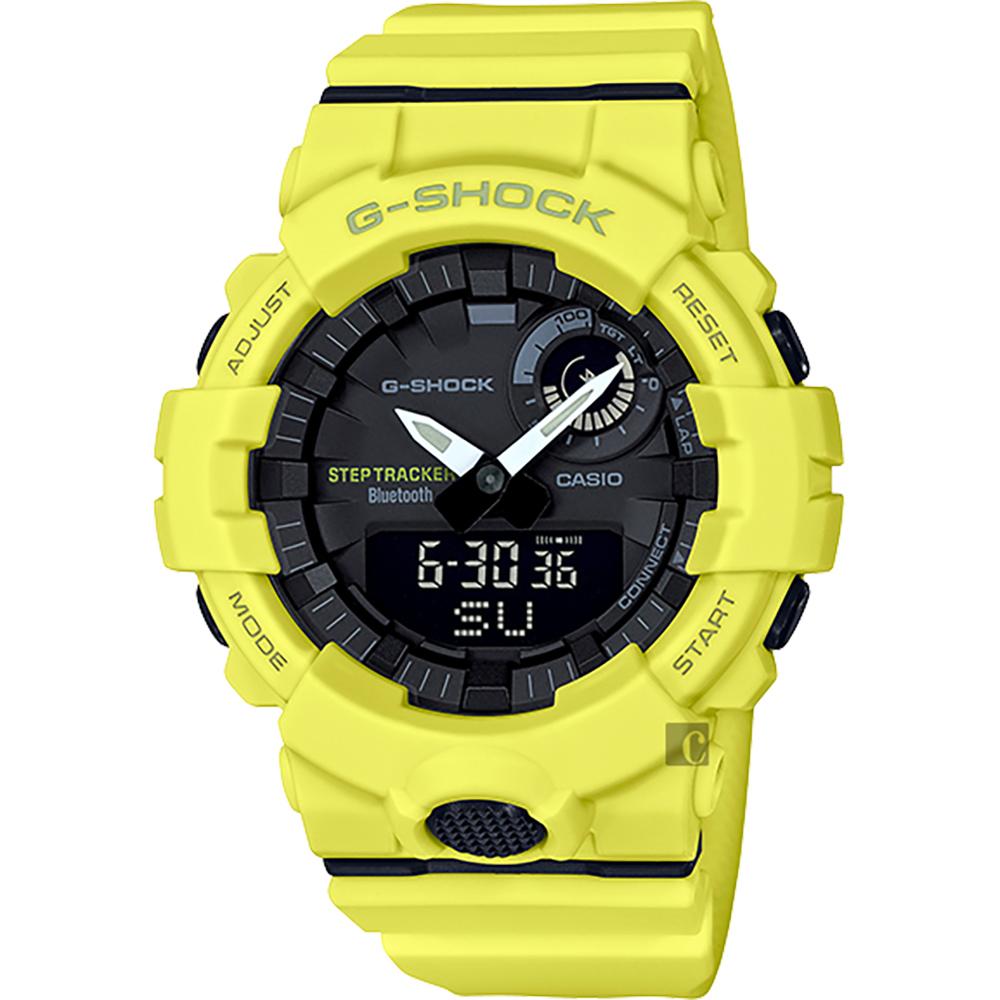 CASIO 卡西欧 G-SHOCK 蓝芽计步手表-莱姆绿 GBA-800-9A