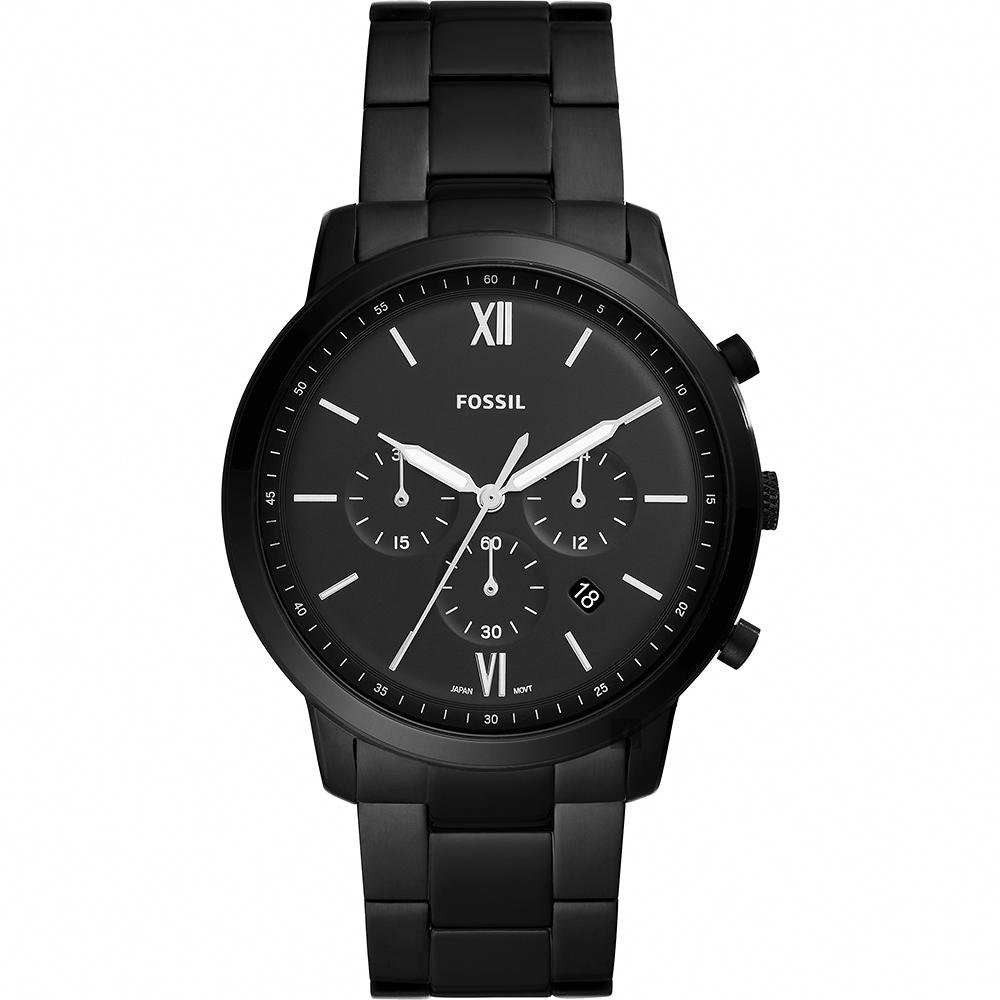 FOSSIL NEUTRA 时尚流行计时手表-镀黑/44mm FS5474