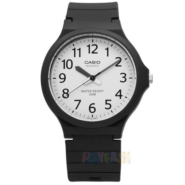 CASIO / MW-240-7B / 卡西欧经典清晰数字耐看设计橡胶腕表 白色 42mm