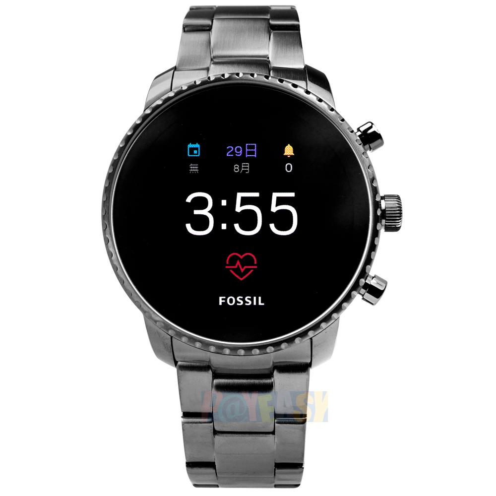 FOSSIL Q / FTW4012 / GEN 4 Q Explorist 智慧型 触控 蓝牙连线 不锈钢手表 黑x镀灰 45mm