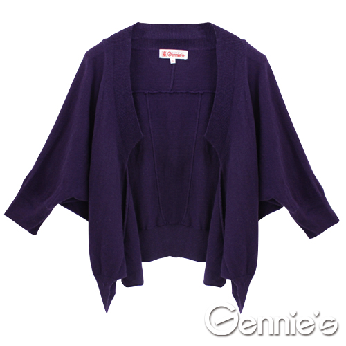 [Gennie's奇妮]舒適質感蝙蝠袖秋冬孕婦針織小外套.罩衫(兩色可選)(GSY10)