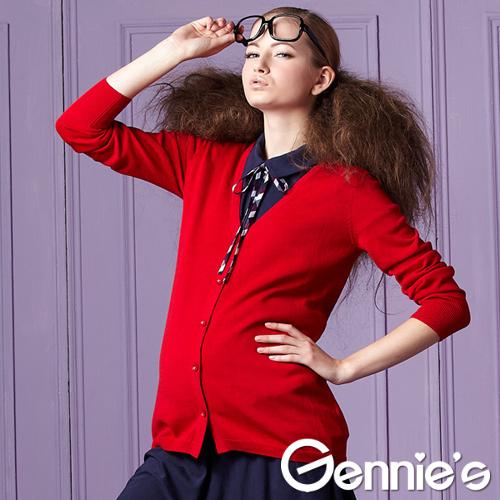 [Gennie's奇妮]百搭棉質針織孕婦外套(四色可選)(GS201)