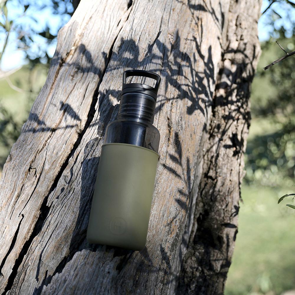 美國HYDY時尚輕靚水瓶_碳黑-海藻綠(容量590ml)