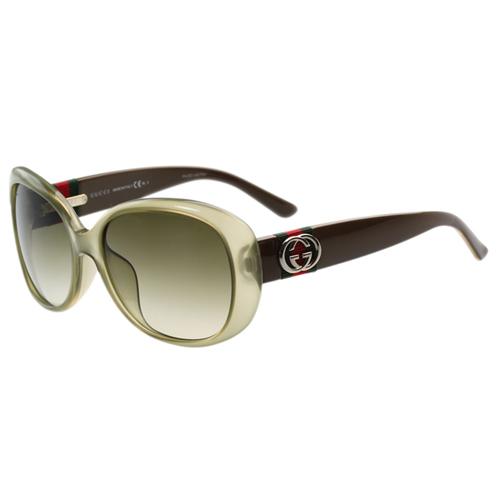 GUCCI-時尚太陽眼鏡(茶色)