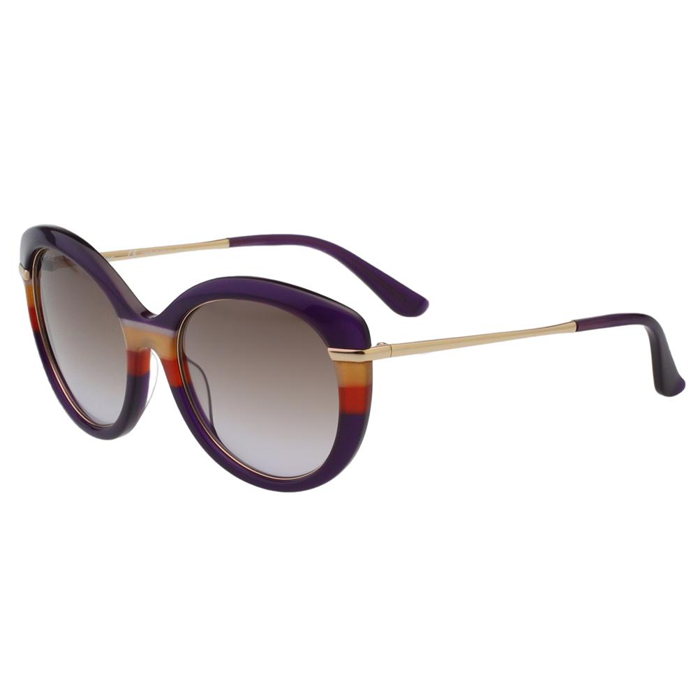 Salvatore Ferragamo- 时尚优雅太阳眼镜(灰紫色)SF724S