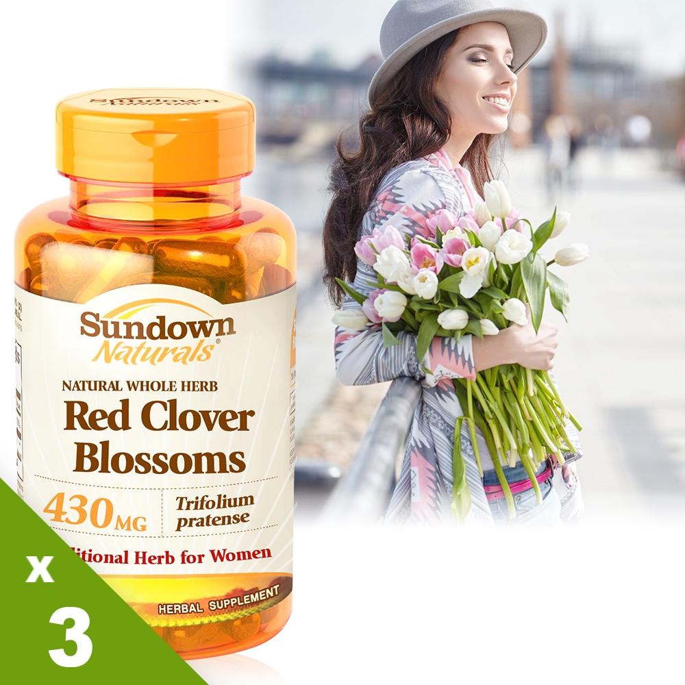 《Sundown日落恩賜》高單位頂級紅花苜蓿膠囊(100粒x3瓶)組
