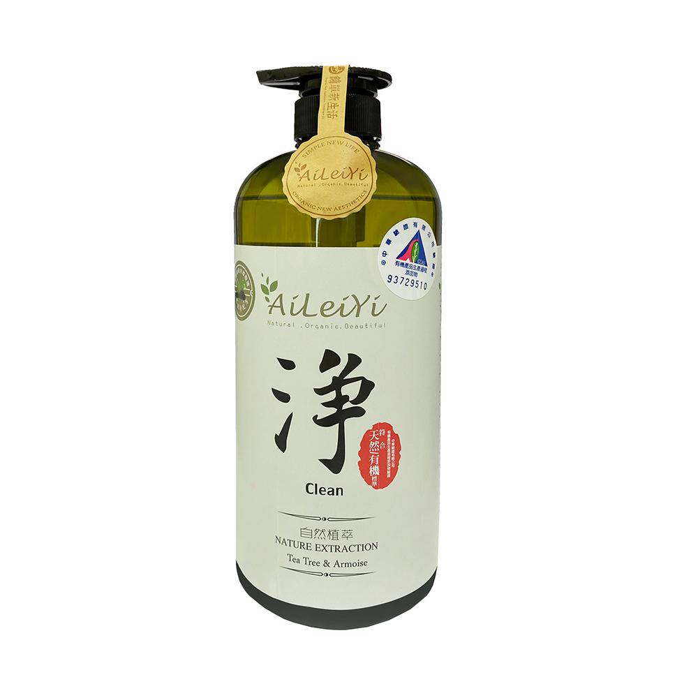 AiLeiYi天然潤膚沐浴精-淨茶樹艾草1000ml
