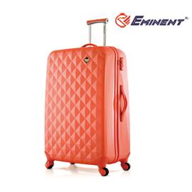 EMINENT【光燦美鑽】經典鑽石紋全PC行李箱29吋<珊瑚橘>KC66